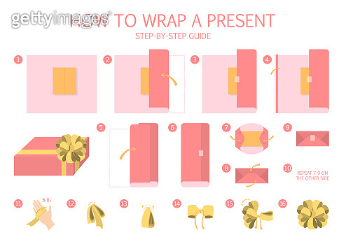 How to wrap a present step-by-step