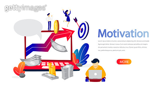 Motivation horizontal banner for your website illustration