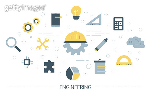 Engineeering concept. Technology and science