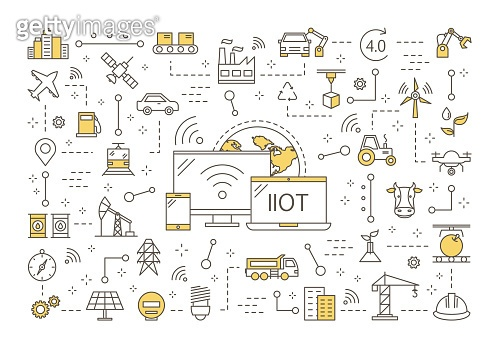 Industrial internet of things concept