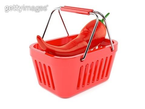 Hot paprika inside shopping basket