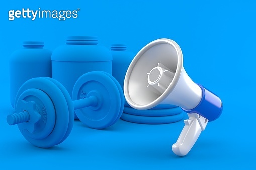 Fitness background with megaphone