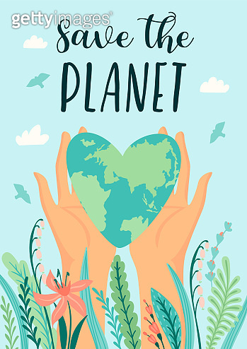 Earth Day. Save Nature. Vector design template