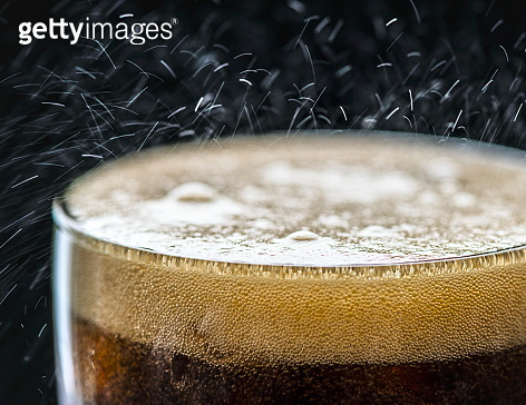 Fizzy cola drink macro shot