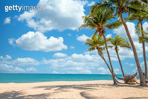 beach landscape for background or wallpaper.