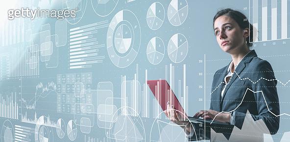 Business statistics concept. Marketing. Analysis. Management strategy.