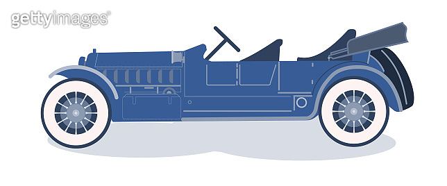 Vector illustration of a retro car