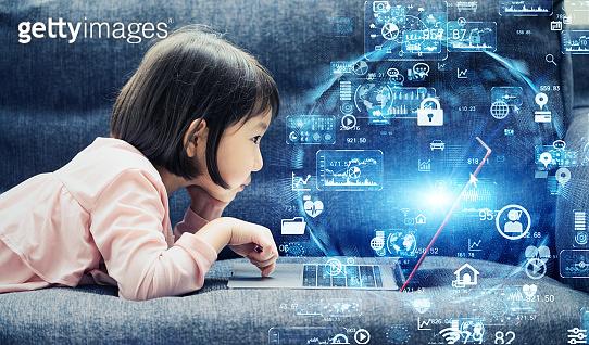 Science technology concept. Education technology. EdTech.