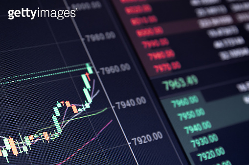 Rising stock market concept