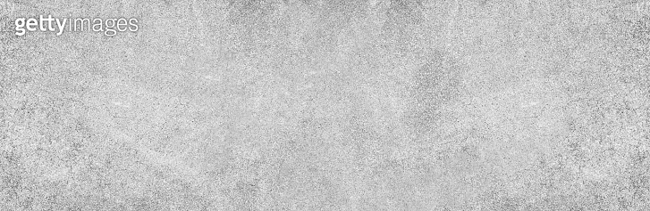 Panoramic grey paint limestone texture background in white light seam home wall paper. Back flat wide concrete stone table floor concept surreal granite quarry stucco surface grunge panorama landscape.