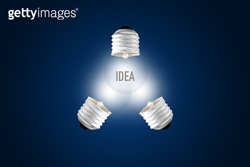 Light bulb concept with find idea of business team with brainstorm for thinking innovation and creative is teamwork together, success of share and search diversity for solution and inspiration.