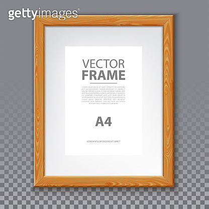 Wooden frame for photo or A4 message. 3d Board
