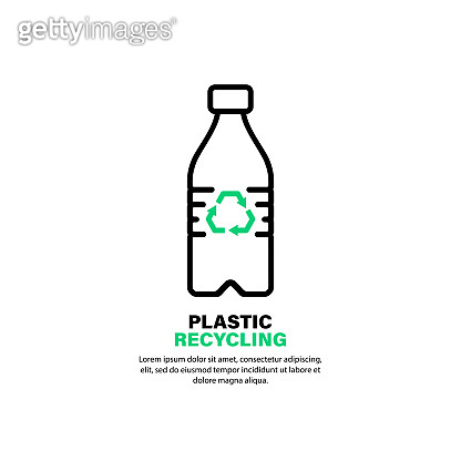 Recycling plastic bottle icon. Save environment concept. Vector on isolated white background. EPS 10