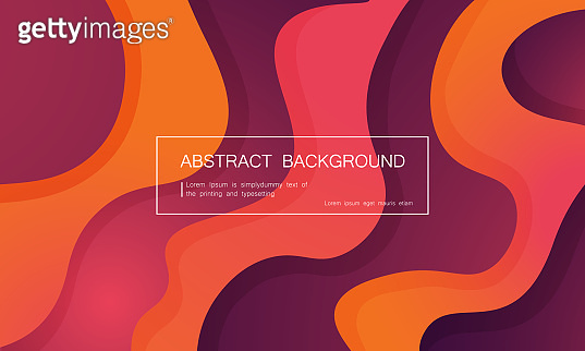 Abstract background with expressive purple pink coral wave motion flow. Modern style presentation template, banner wallpaper with space for text. Vector EPS 10.