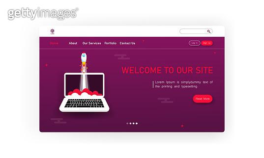 Website template. Vector illustration concept of web page design for website and mobile website development. Eps 10.