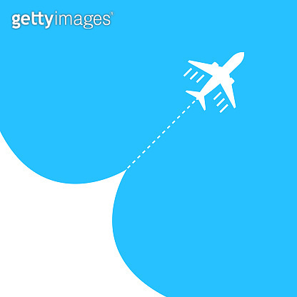 Airplane fly blue sky background. Airjet isolated. Travel tourism transport concept. Passenger aircraft. Jet commercial plane. Vector EPS 10