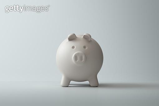 Piggybank over white background