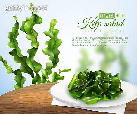 realistic seaweed salad illustration