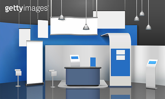 advertising exhibition stand mockup 3d