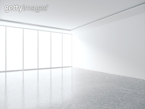 White room interior with copyspace
