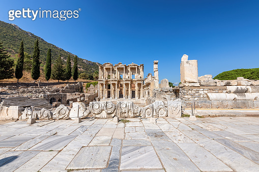 Celsius Library in ancient city Ephesus, Turkey