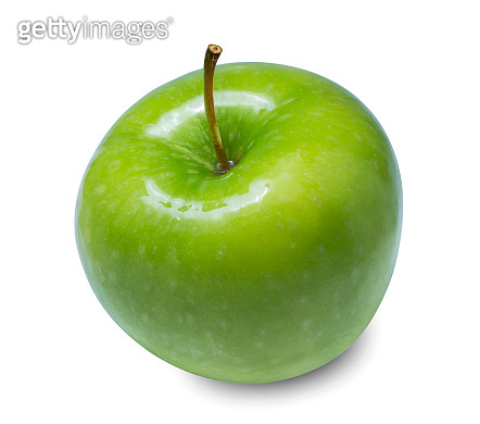 Fresh Green Apple Isolated on White Background, Green apples isolated on white  background in Full Depth of Field with clipping path