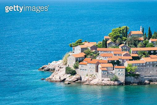 Sveti Stefan Island Adriatic Coastal Town Montenegro