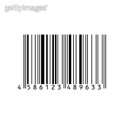 Barcode icon isolated on white background. Black striped code for digital identification. Vector code information, store scan codes. Industrial coding information. Vector