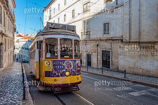 Historic Tramcar in Lisbon