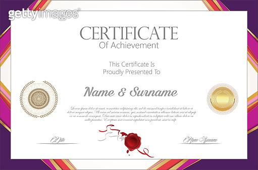 Certificate or diploma modern design template