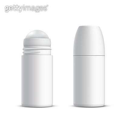 Closed and opened roll-on deodorant or antiperspirant