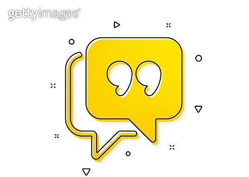 Quote bubble icon. Chat comment sign. Speech bubble. Vector
