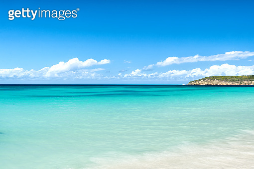 Sea or ocean water surface in st johns, antigua