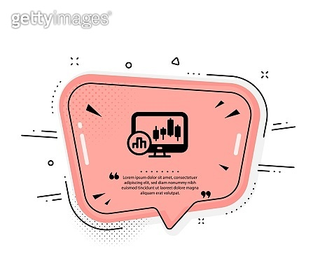 Candlestick chart icon. Analytics graph sign. Vector