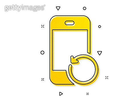 Recovery phone icon. Backup data sign. Restore smartphone information. Vector