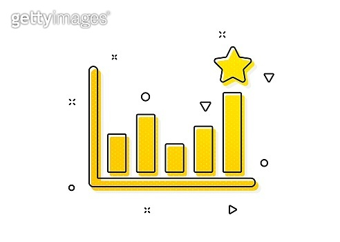 Efficacy icon. Business chart sign. Vector