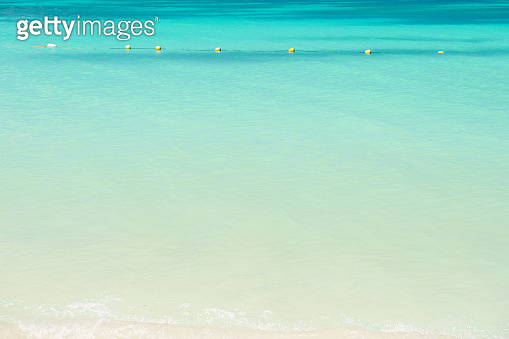 Sea or ocean with turquoise water in antigua