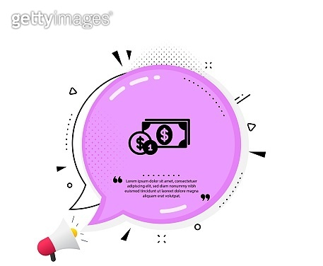 Cash money with Coins icon. Banking. Vector
