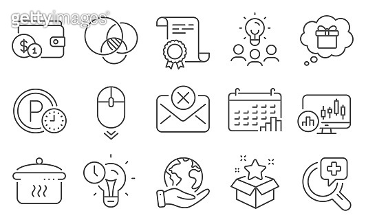 Set of Business icons, such as Loyalty program, Buying accessory, Time management. Vector