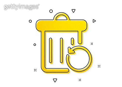Recovery trash bin icon. Backup data sign. Restore information. Vector