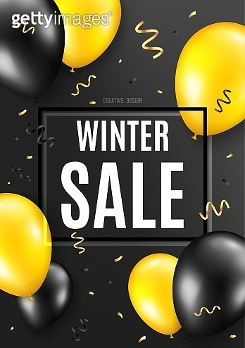 Winter Sale. Special offer price sign. Vector