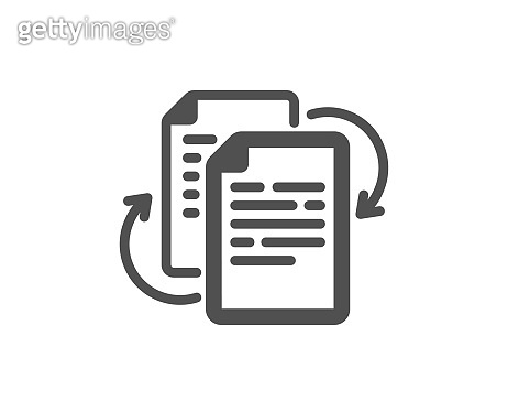 Documents workflow icon. Doc file page sign. Vector