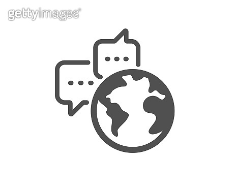 Global business icon. World communication sign. Vector