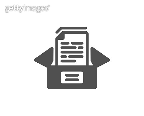 Documents box icon. Doc files page sign. Vector