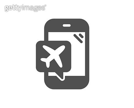Flight mode icon. Airplane mode sign. Vector