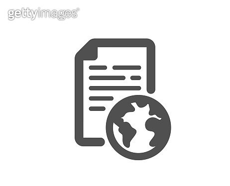 Internet document icon. Doc file page sign. Vector