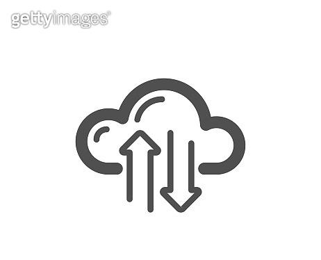 Cloud computing sync icon. Internet data storage sign. Vector