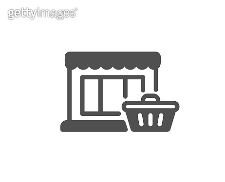 Marketplace icon. Shopping store sign. Vector