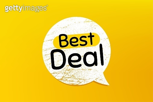 Best deal. Special offer sale sign. Vector
