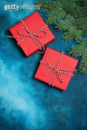 Christmas still life with bright symbols